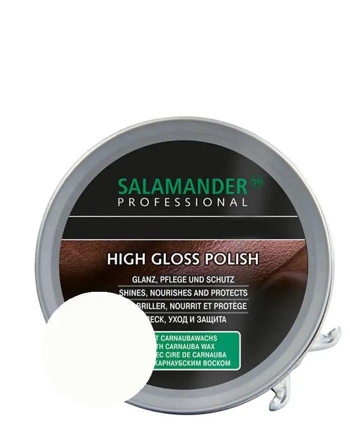 Bezbarwna, klasyczna pasta do butów High Gloss Polish Salamander