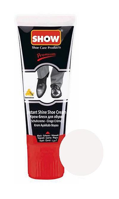 Bezbarwna pasta, krem samopołyskowy do butów Show 75 ml