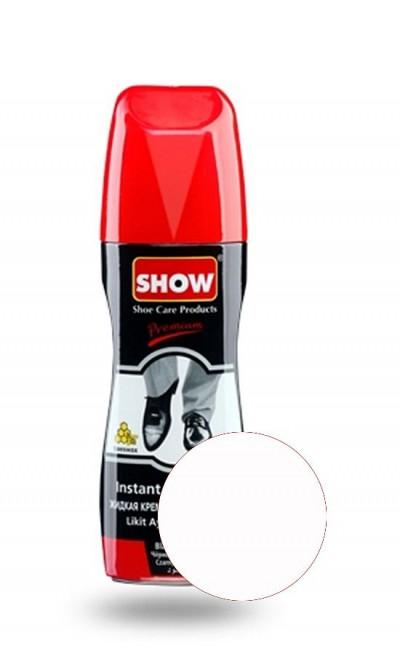 Bezbarwna pasta w płynie do butów, samopołyskowa Show 75 ml