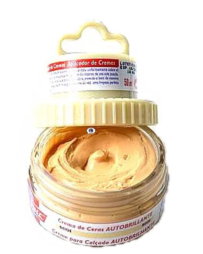 Beżowa pasta woskowa, nabłyszczająca, Shoe Cream Palc