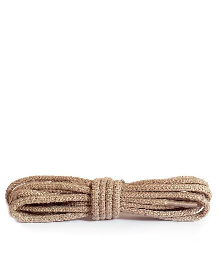 Beżowe, cienkie, sznurówki do butów, 45 cm Kaps