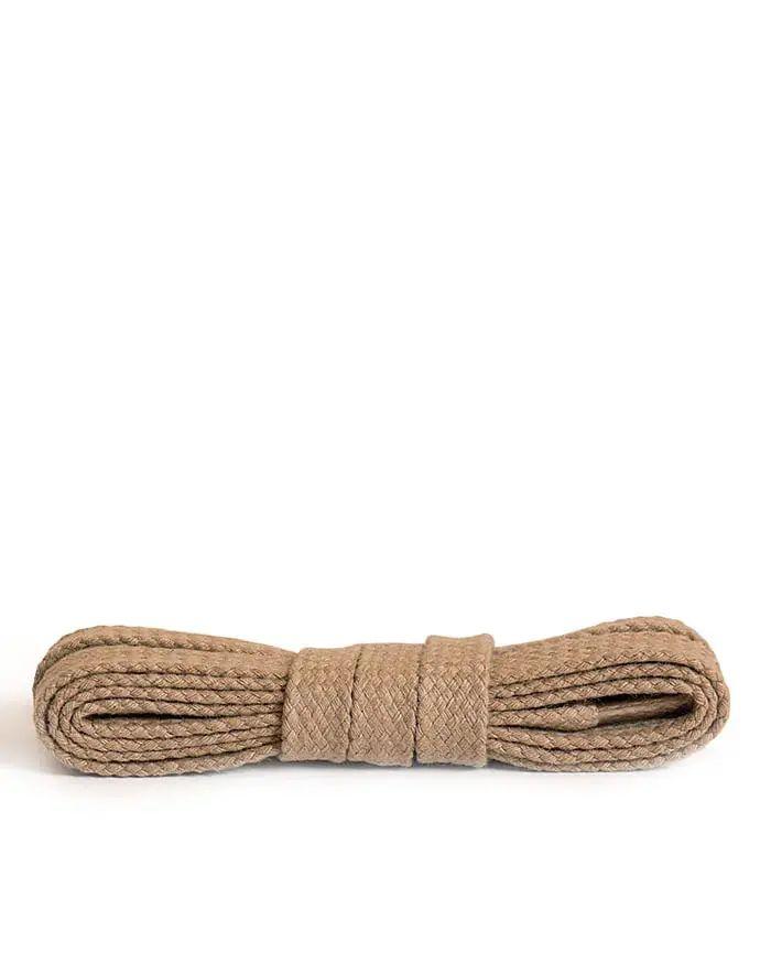 Beżowe, płaskie, sznurówki do butów 75 cm Kaps