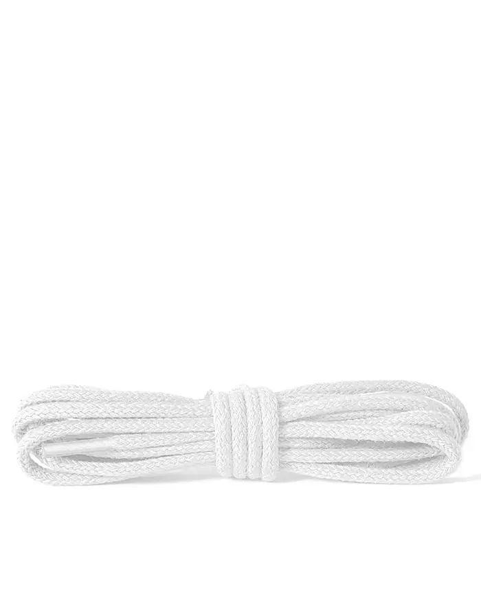 Białe, cienkie, sznurówki do butów, 100 cm Kaps