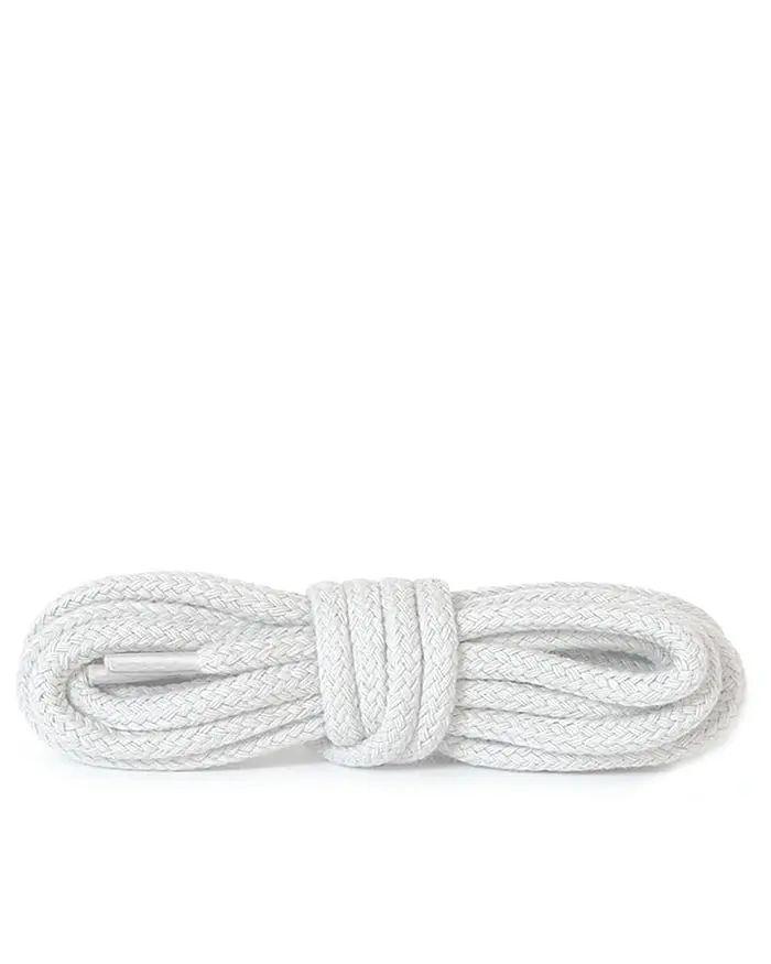 Białe, okrągłe grube, sznurówki do butów, 60 cm, Kaps