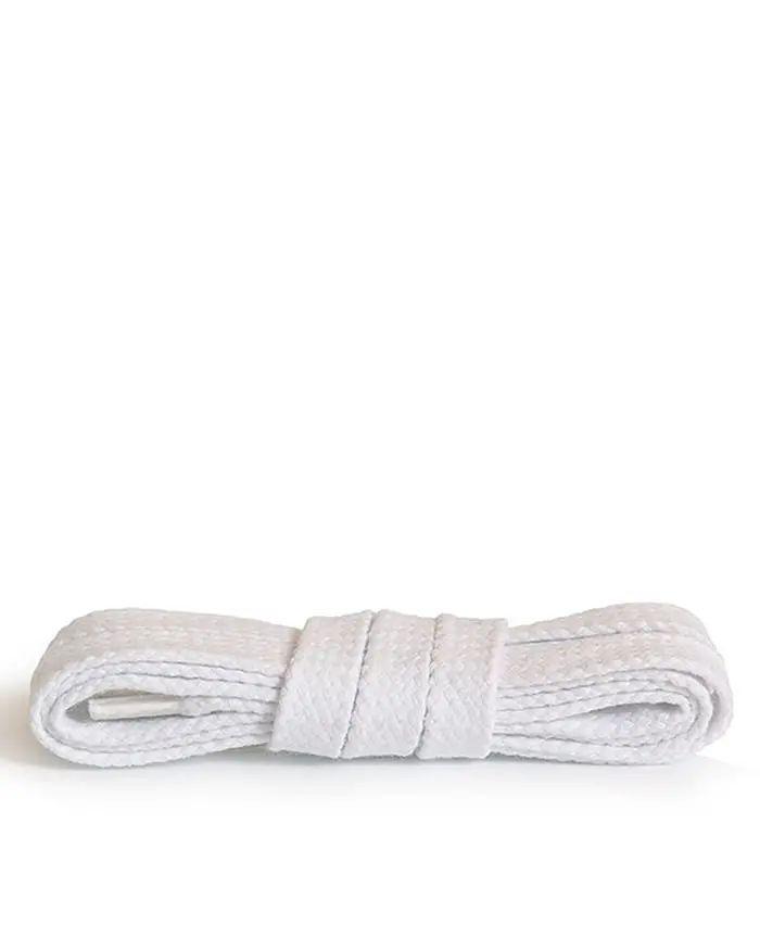 Białe, płaskie, sznurowadła do butów 150 cm Kaps