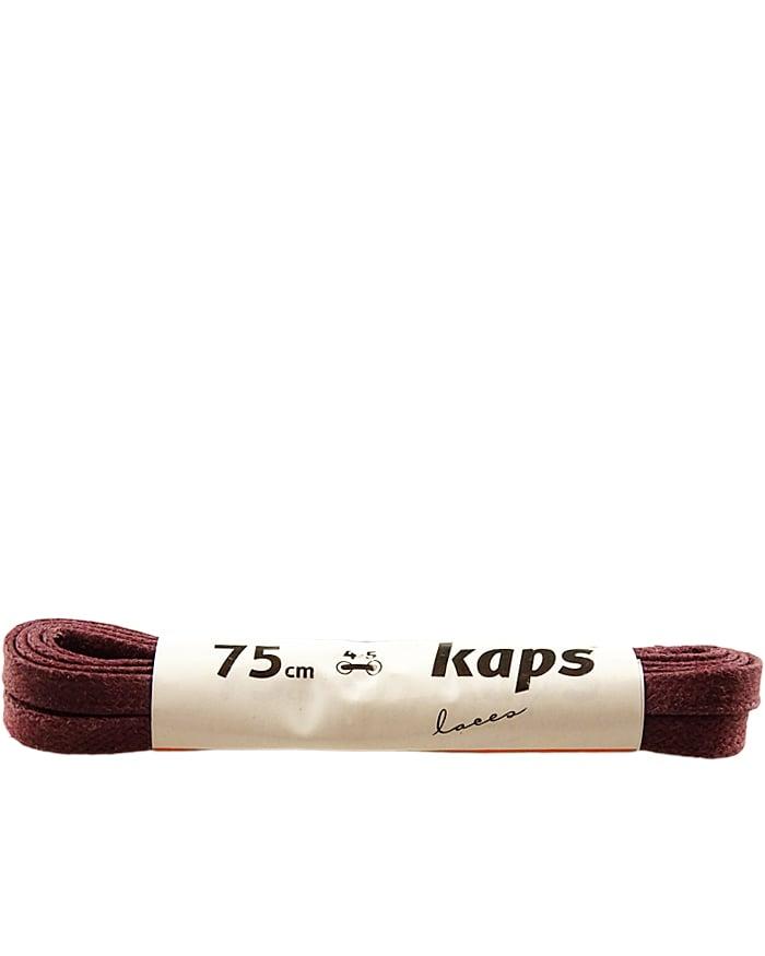 Bordowe, woskowane, sznurówki do butów płaskie 120 cm Kaps
