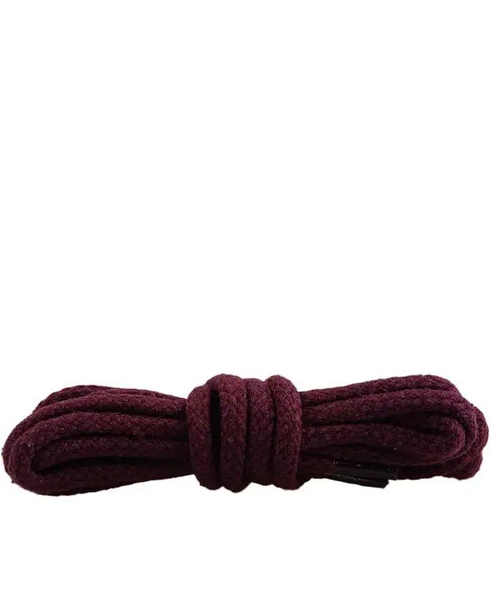Bordowe sznurówki do butów, okrągłe grube 90 cm Kaps