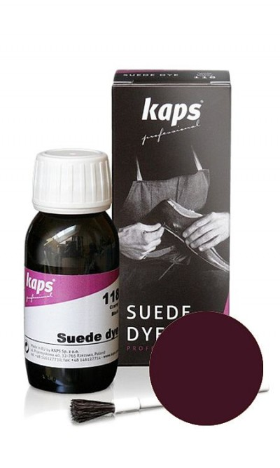 Bordowy barwnik do zamszu, nubuku Suede Dye Kaps 50 ml 111
