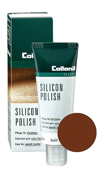 Brązowa pasta do butów, Silicon Polish Collonil 75 ml