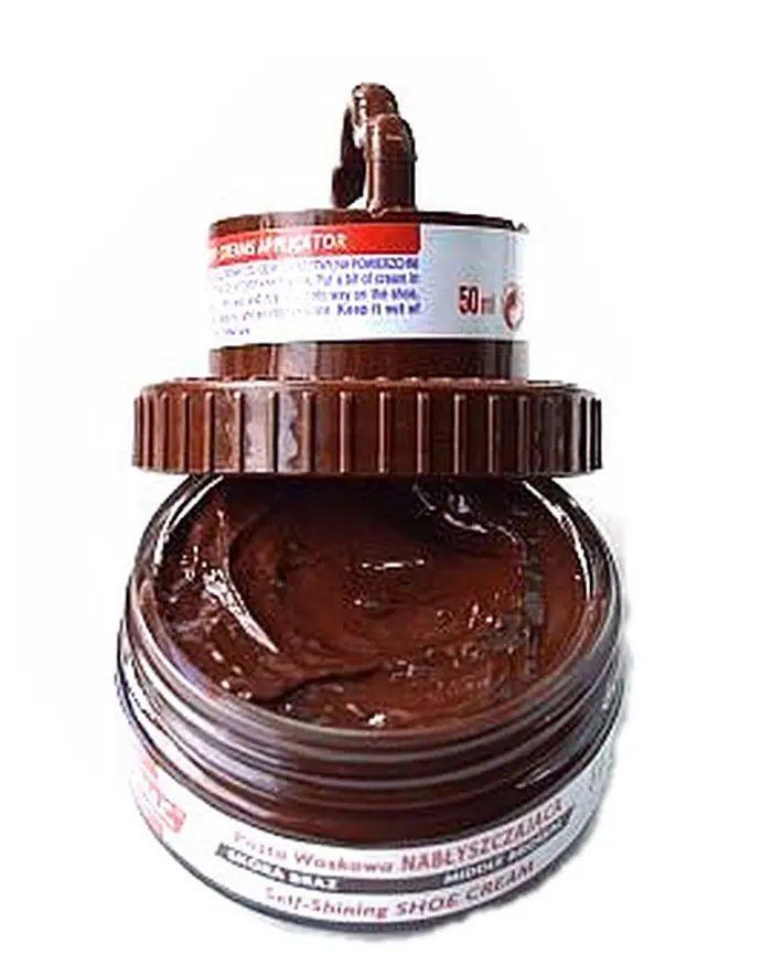 Brązowa pasta woskowa, nabłyszczająca, Shoe Cream Palc