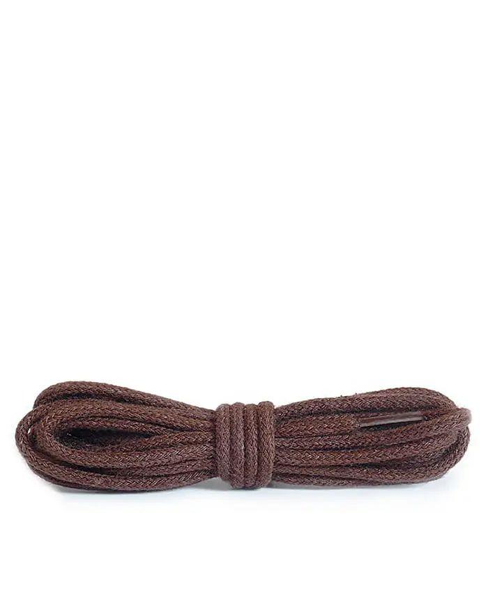 Brązowe sznurówki do butów, okrągłe cienkie, 90 cm Kaps