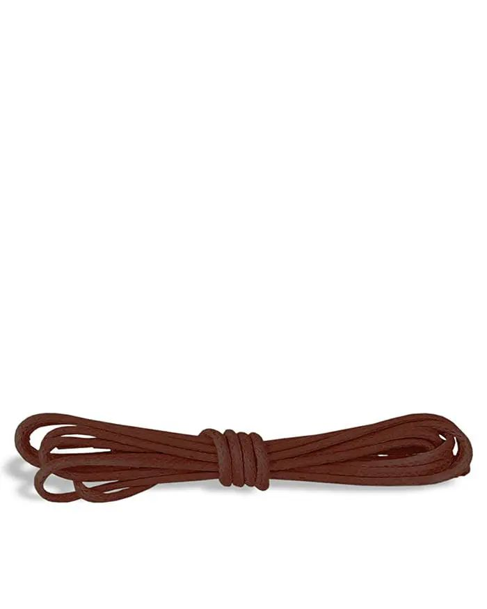 Brązowe woskowane, cienkie sznurówki do butów 60 cm Kaps