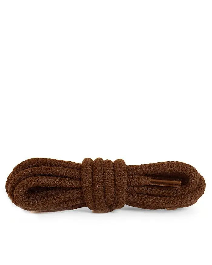 Brązowe, okrągłe grube, sznurówki do butów 200 cm Kaps