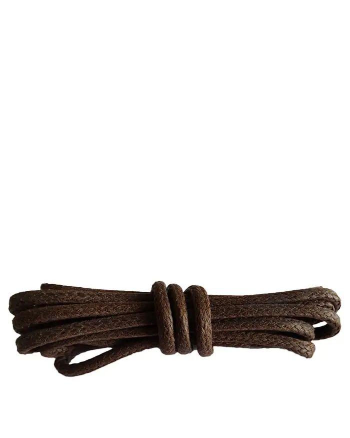 Brązowe, woskowane, sznurówki do butów, grube 120 cm Kaps