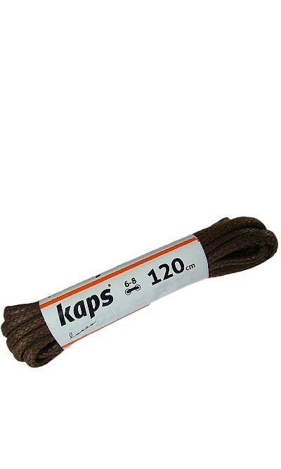 Brązowe, woskowane, sznurówki do butów okrągłe grube 120 cm Kaps