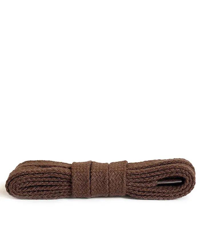 Brązowe, płaskie, sznurówki do butów 180 cm Kaps
