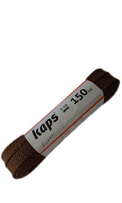 Brązowe, płaskie, sznurowadła do butów 150 cm Kaps