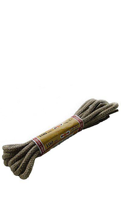 Beżowe, okrągłe grube, sznurówki do butów 100 cm Mazbit
