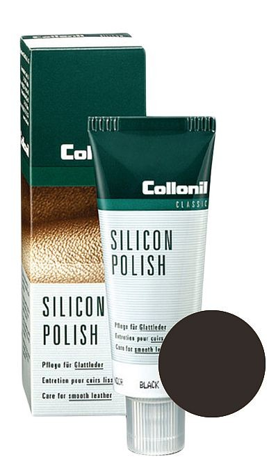 Ciemnobrązowa pasta do butów, Silicon Polish Collonil 75 ml