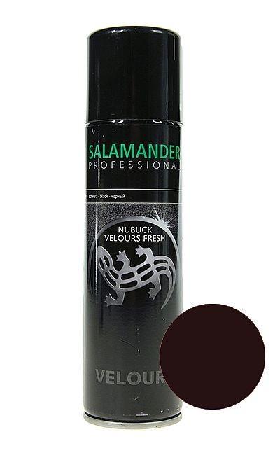 Ciemnobrązowa pasta do zamszu nubuku Salamander, Velours Nubuk Fresh
