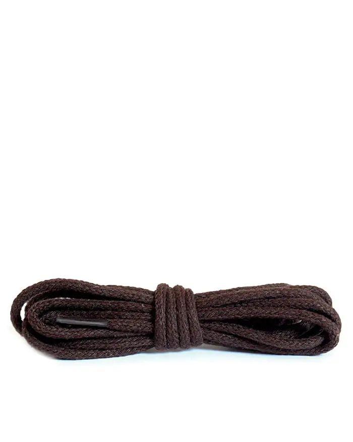 Ciemnobrązowe cienkie, sznurówki do butów, 75 cm Kaps