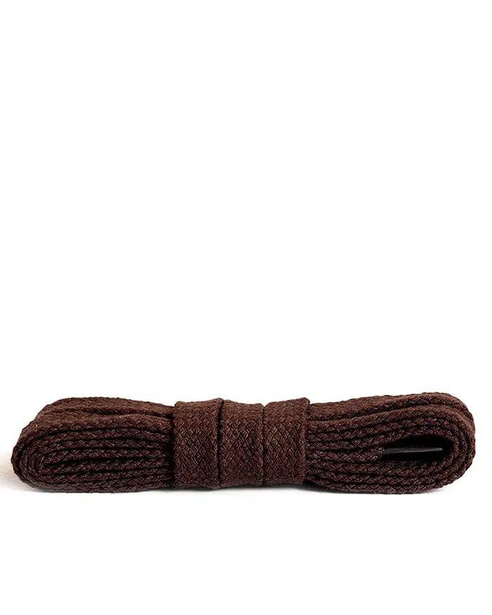 Ciemnobrązowe, płaskie, sznurówki do butów 90 cm Kaps