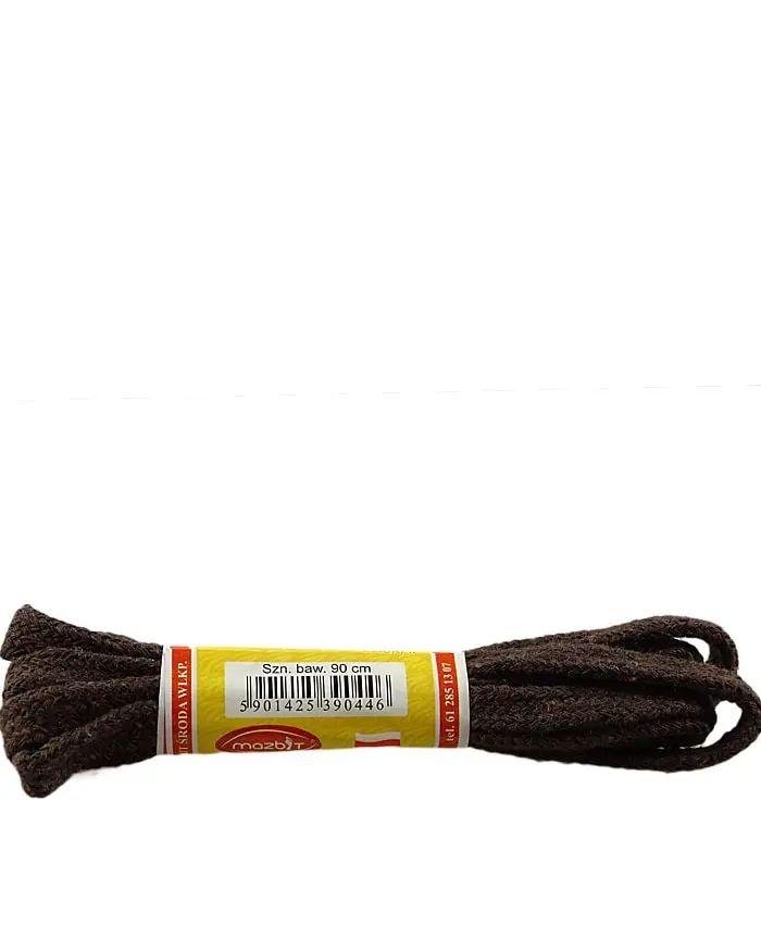 Ciemnobrązowe, płaskie, sznurówki do butów 90 cm Mazbit