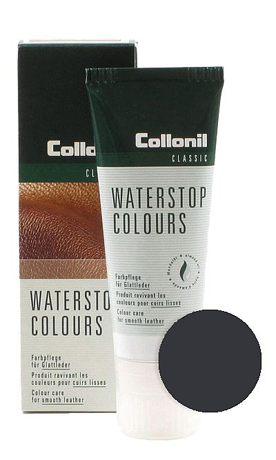 Ciemnoszara pasta do butów, Waterstop Colours Collonil 729 75 ml