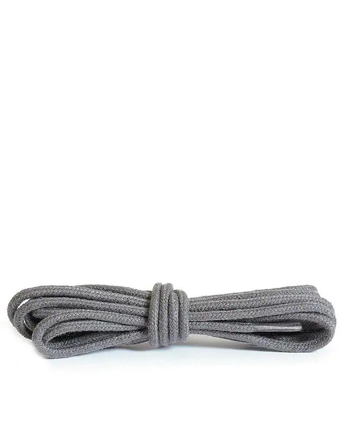 Ciemnoszare sznurówki do butów okrągłe cienkie 90 cm Kaps
