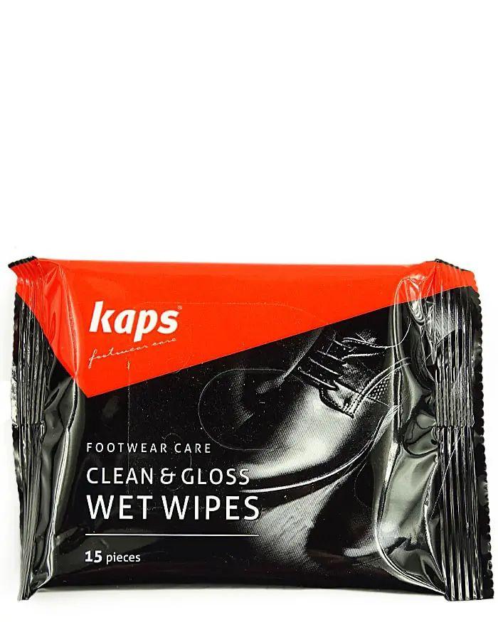 Clean Gloss Wet Wipes, chusteczki do czyszczenia butów, 15 szt