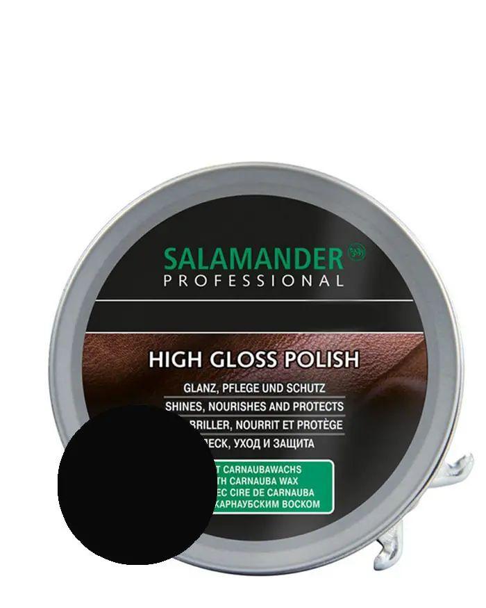 Czarna, klasyczna pasta do butów High Gloss Polish Salamander