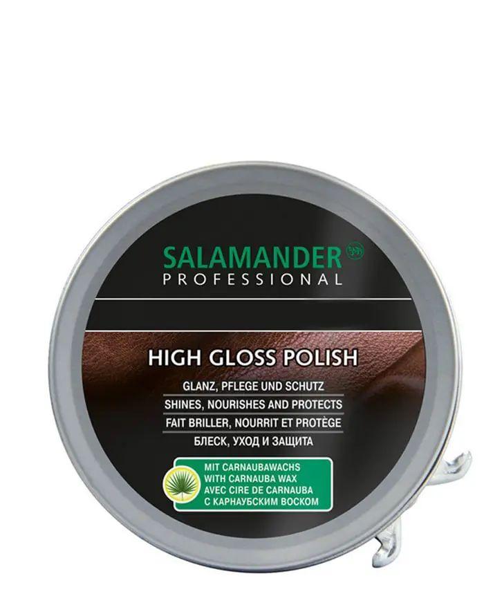 Brązowa, klasyczna pasta do butów High Gloss Polish Salamander