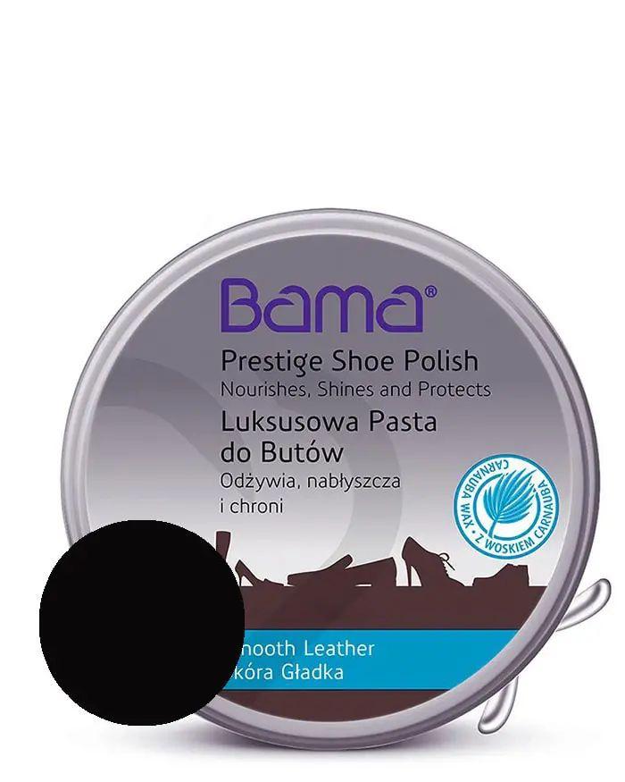 Czarna, klasyczna pasta do butów, luksusowa, 50 ml, Bama