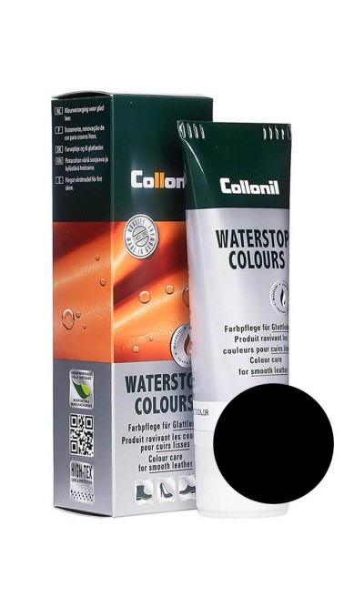 Waterstop Colours Collonil Lack czarna pasta do butów 75 ml