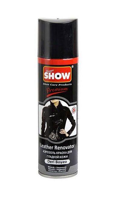Czarny renowator do skóry licowej, spray 220 ml Show
