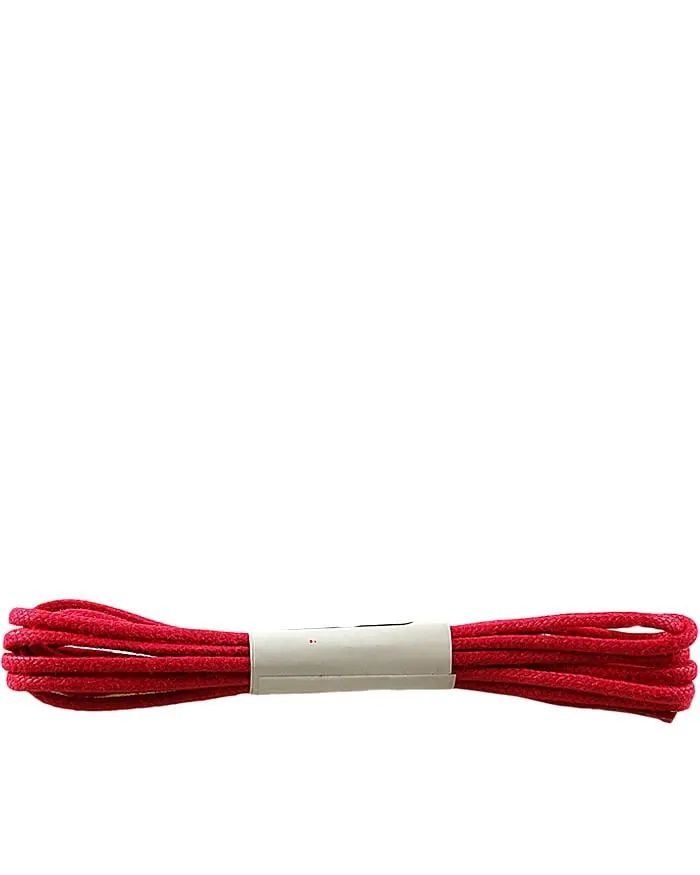 Czerwone, woskowane, sznurówki okrągłe cienkie 120 cm Halan