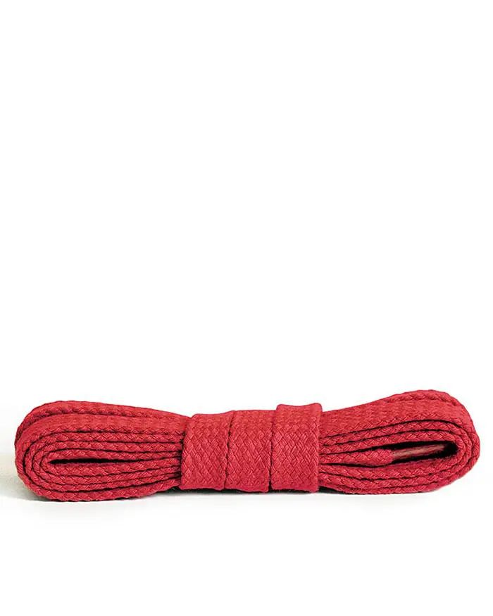 Czerwone, płaskie sznurówki do butów 90 cm Kaps