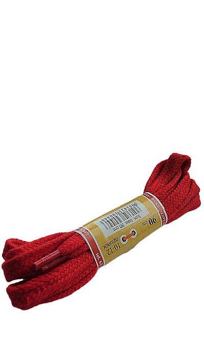 Czerwone, płaskie sznurówki do butów 90 cm Mazbit