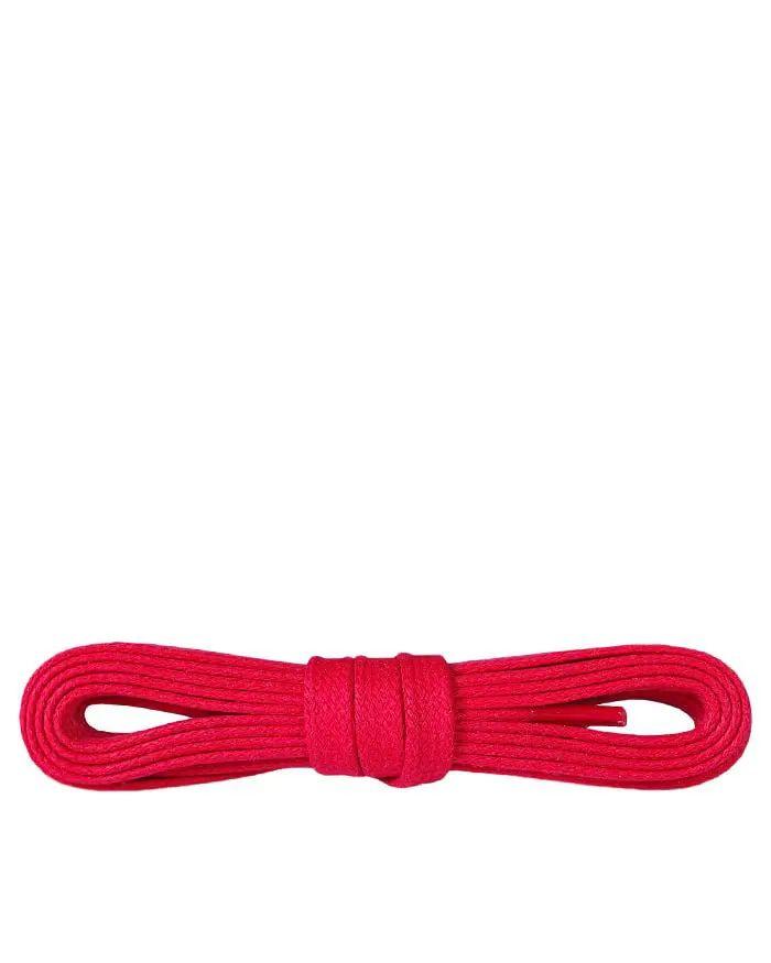 Czerwone, woskowane, sznurówki do butów płaskie 90 cm Kaps
