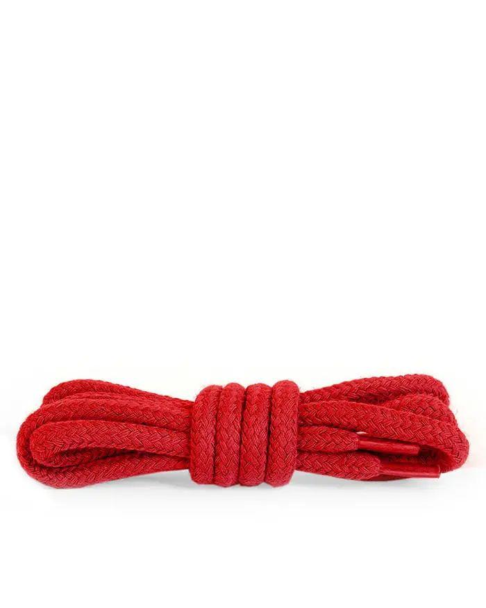 Czerwone sznurówki do butów, okrągłe grube 200 cm Kaps