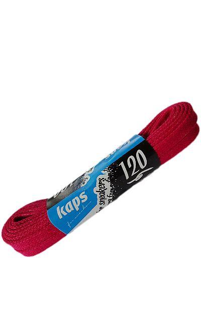 Czerwone, woskowane, sznurówki do butów płaskie 120 cm Kaps