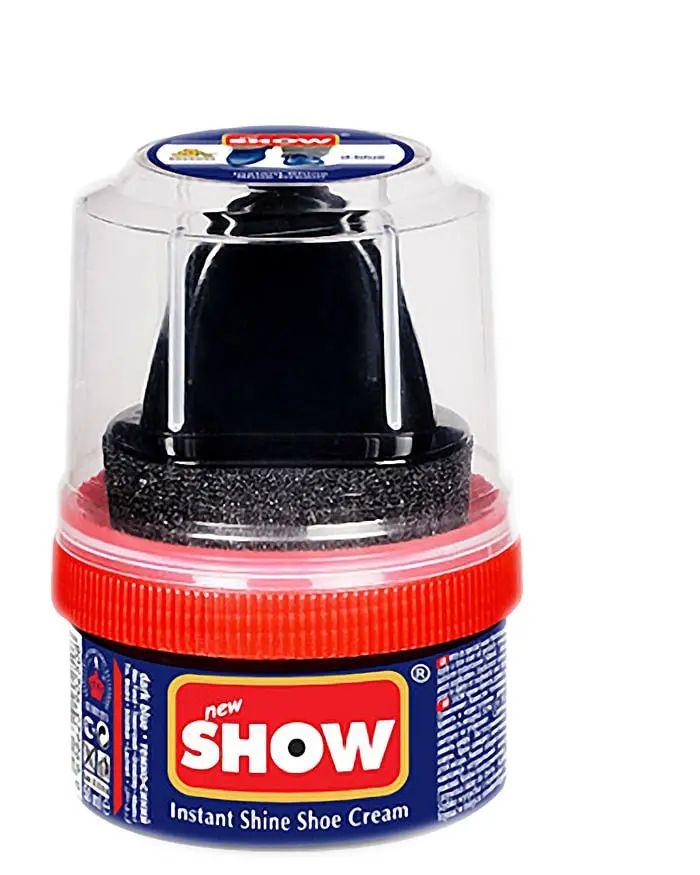 Granatowa pasta woskowa, nabłyszczająca, Shoe Cream Show