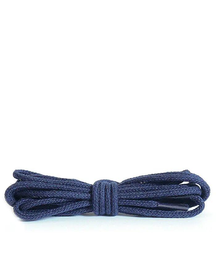 Granatowe, cienkie, sznurówki do butów 120 cm Kaps