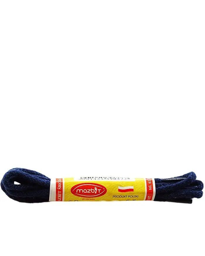 Granatowe, sznurówki do butów, okrągłe cienkie 75 cm Mazbit