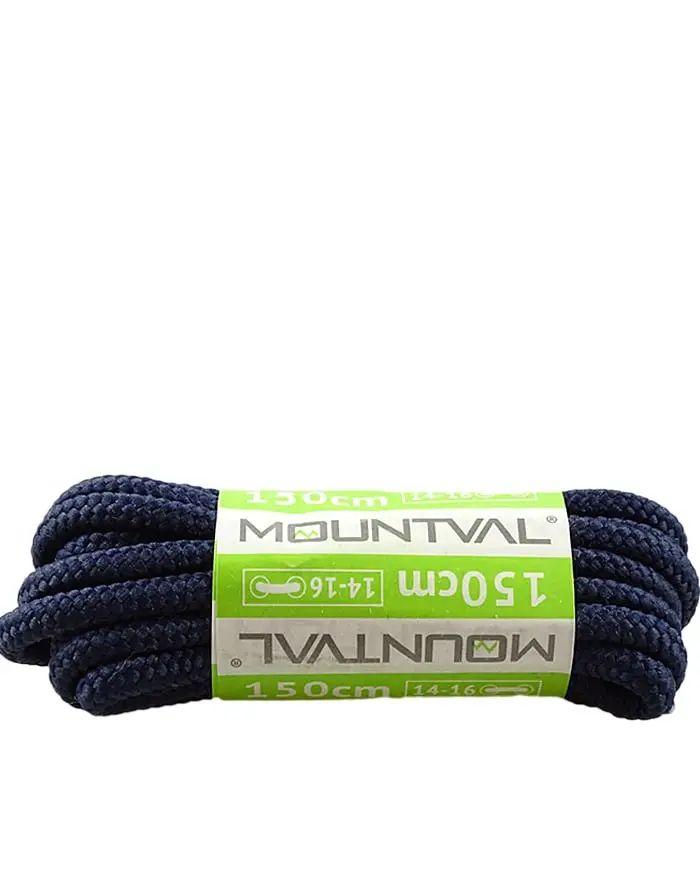 Granatowe, trekkingowe sznurówki do butów, 120 cm, Mountval