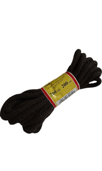 Brązowe, okrągłe grube, sznurówki do butów 200 cm Mazbit