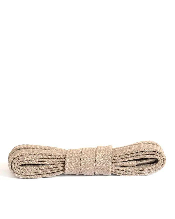 Jasnobeżowe, płaskie sznurówki do butów 90 cm Kaps