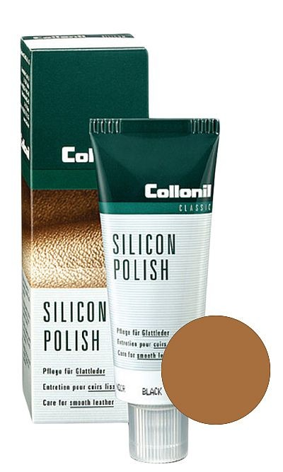 Jasnobrązowa pasta do butów, Silicon Polish Collonil 75 ml