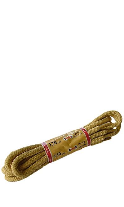 Żółte, miodowe, trekkingowe sznurówki do butów 120 cm Halan