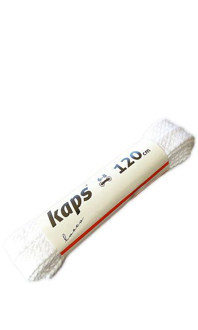 Białe, płaskie, sznurówki do butów 120 cm Kaps